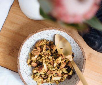 Kurkuma en gembergranola recept