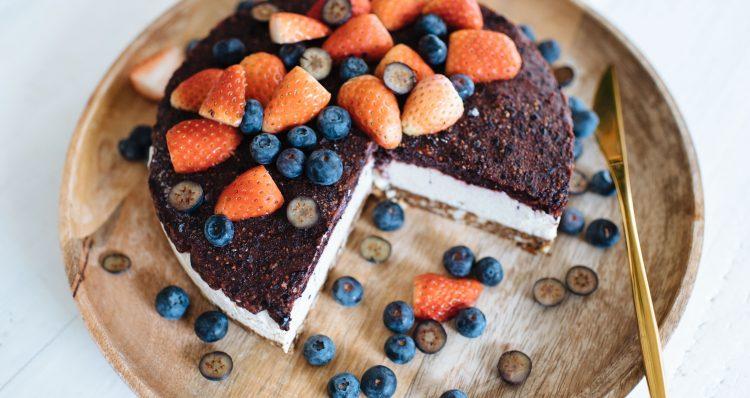 Raw Blueberry 'Cheesecake' Recept   Een paar en een reserve